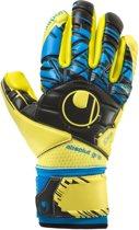 Uhlsport Speed Up Absolutgrip Fingersurround  Keepershandschoenen - Unisex - geel/zwart/blauw Maat 9