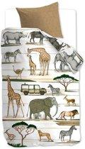 Beddinghouse Kids Jeep Safari - Dekbedovertrek - Junior - 120x150 cm + 1 kussensloop 60x70 cm - Naturel