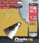 Piranha Diamantblad gesegmenteerde rand, 230mm. - nr. 1 HI-TECH X38117