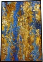 Fine Asianliving Handgemaakt Schilderij - Contemporary Art Oil Painting Bladgoud 2