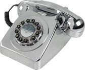 Wild wolf 746 Retro Telefoon - Brushed Chrome
