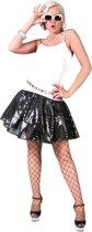 Zwarte lovertjes disco rok voor vrouwen - Volwassenen kostuums