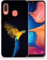 Samsung Galaxy A20e TPU Hoesje Design Papegaai