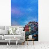 Fotobehang vinyl - Schemering in Cinque Terre breedte 270 cm x hoogte 400 cm - Foto print op behang (in 7 formaten beschikbaar)