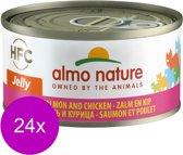 Almo Nature - Zalm en Kip - Kattenvoer - 24 x 70 g