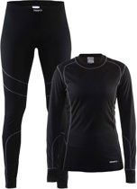 Craft Baselayer Set Thermoset Dames - Black/Granit