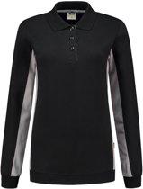 Tricorp polosweater bi-color dames - 302002 - zwart / grijs - maat 3XL