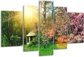 Glasschilderij Natuur   Groen, Paars   170x100cm 5Luik   Foto print op Glas    F006131