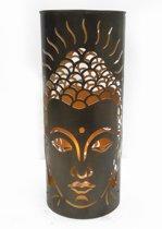 Metalen Vloer Kaarshouder Boeddha (47 x 20 cm)
