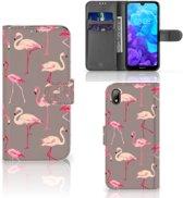 Huawei Y5 (2019) Telefoonhoesje met Pasjes Flamingo