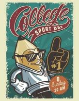 College Sport Day: Composition Notebook - Exercise Book - Lined School & College Work Book