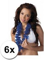 6 blauwe hawaii slingers