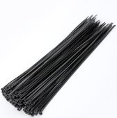100x Tiewrap 200mm Zwart