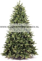 KJ Kunstkerstbomen Kunstkerstboom - 240 cm - met 400 warme LED verlichting - 2164 takken