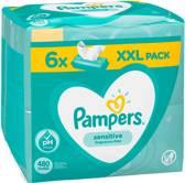 Pampers Babydoekjes – Sensitive XL - 6 x 80 stuks (480 stuks)