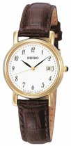 Seiko SXDA14P1 horloge dames - bruin - edelstaal doubl�