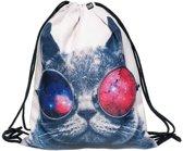 Zumprema Galaxy Cat - Gymtas - Kinderen - Zilver