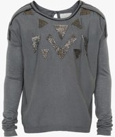 Creamie - meisjes shirt - lange mouwen - model Carla - stone - Maat 116