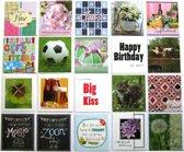 Verjaardagskaarten en Assortie Wenskaarten - Set van 20