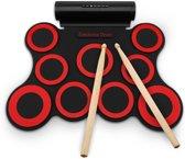 Elektronische drumkit met percussiepad, draagbare roller drum, perfect voor beginners en kinderen | Perfect cadeau voor kinderen