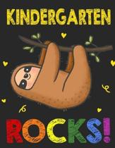 Kindergarten Rock!: Funny Back To School notebook, Gift For Girls and Boys,109 College Ruled Line Paper, Cute School Notebook, School Comp