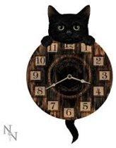 Zwarte kat klok