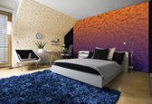 Fotobehang 3D | Oranje, Paars | 152,5x104cm