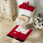 Kerstman toilet set -Wc bril hoes - Katoen