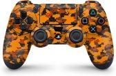 Playstation 4 Controller Skin Camo Oranje- PS4 Controller Sticker