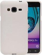 Wit Zand TPU back case cover hoesje voor Samsung Galaxy J3