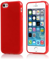 Xssive TPU Back Cover en 1x Tempered Glass voor Samsung Galaxy S7 G930 - Gelly - Rood