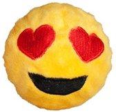 FabDog Faball Heart Eyes Emoji - Hond - Speelgoed - Maat S: 7,6 cm - Geel