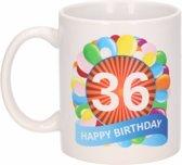 Verjaardag ballonnen mok / beker 36 jaar