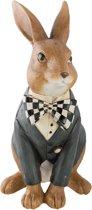 Clayre & Eef Decoratie konijn 16x13x25 cm