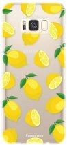 FOONCASE Samsung Galaxy S8 hoesje TPU Soft Case - Back Cover - Lemons / Citroen / Citroentjes