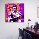 Johnny Cash Poster Art 120gr mat fotopapier 90/90cm