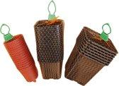 Plastic stekpotjes H9,5x9x9cm set a 7 stuks