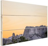 Mount Rushmore Amerika Hout 120x80 cm - Foto print op Hout (Wanddecoratie)
