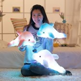 Lichtgevende Knuffel - Dolfijn Die Licht Geeft - Prachtige Knuffel Geschikt voor Kinderen - Roze