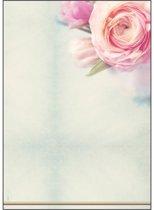 designpapier Sigel A4 90grs pak a 50 vel Rose Garden