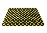 Zak!Designs Smiley 2.0 Snij-& Serveerplank - Glas - 40 x 30 cm - Zwart