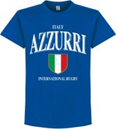 Italië Rugby T-Shirt - Blauw - S