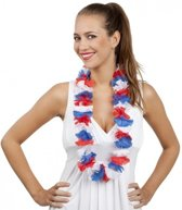 6 Hawaii kransen rood/wit/blauw  - Nederland / koningsdag