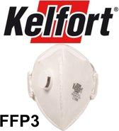 Kelfort Fijnstofmasker 2332V met uitademventiel vouwbaar FFP3