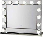 HOLLYWOOD SPIEGEL visagiespiegel visagie spiegel make-up spiegel met verlichting dimbaar met spiegelrand
