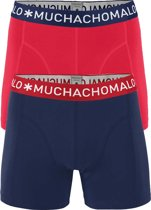 Muchachomalo boxershorts - 2-pack - solid rood en blauw -  Maat M