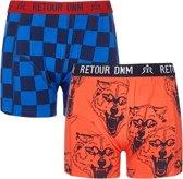 Retour Jeans Jongens Boxershorts 2pk - Mid blue - Maat 116