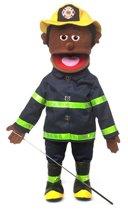 Handpop Brandweerman Donker 25'' Sillypuppets