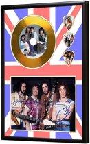 Golddiscdisplay met plectrums The Who ingelijst