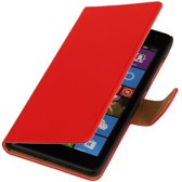 Microsoft Microsoft Lumia 535 Rood | bookstyle / book case/ wallet case Hoes  | WN™